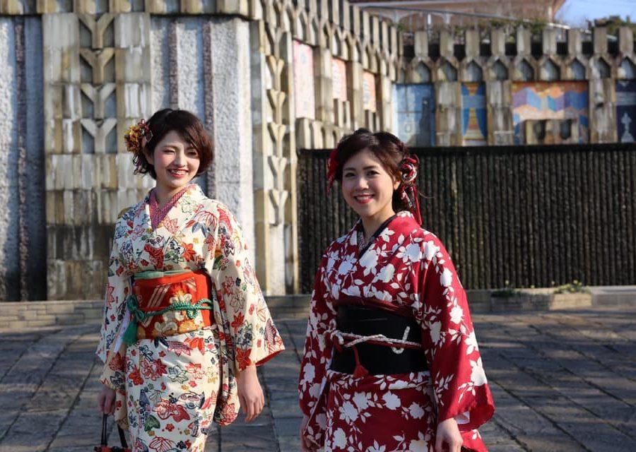 長崎の着物レンタルは長崎はいからさん、キモノホッペン ヘアセットや小物セット