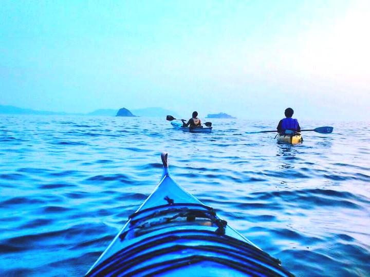 長崎市の離島「高島」でシーカヤック体験 レンタルして軍艦島を目指そう